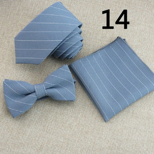 Pin-Striped Bow Tie Sets (15 color choices!)