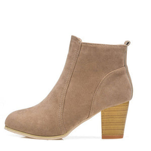 Ankle Boots / Square High Heel (Various Color Choices!)