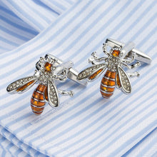 Enamel Bee Cufflinks
