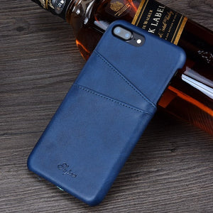 Leather Wallet Phone Case with card Slots for iPhone 8, 8 Plus, 7, 7 Plus  (Various Color Choices!)