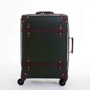 Vintage Luggage / Scratch Resistant Large Capacity PU Leather Hardside Roller Suitcase (Various Color Choices)