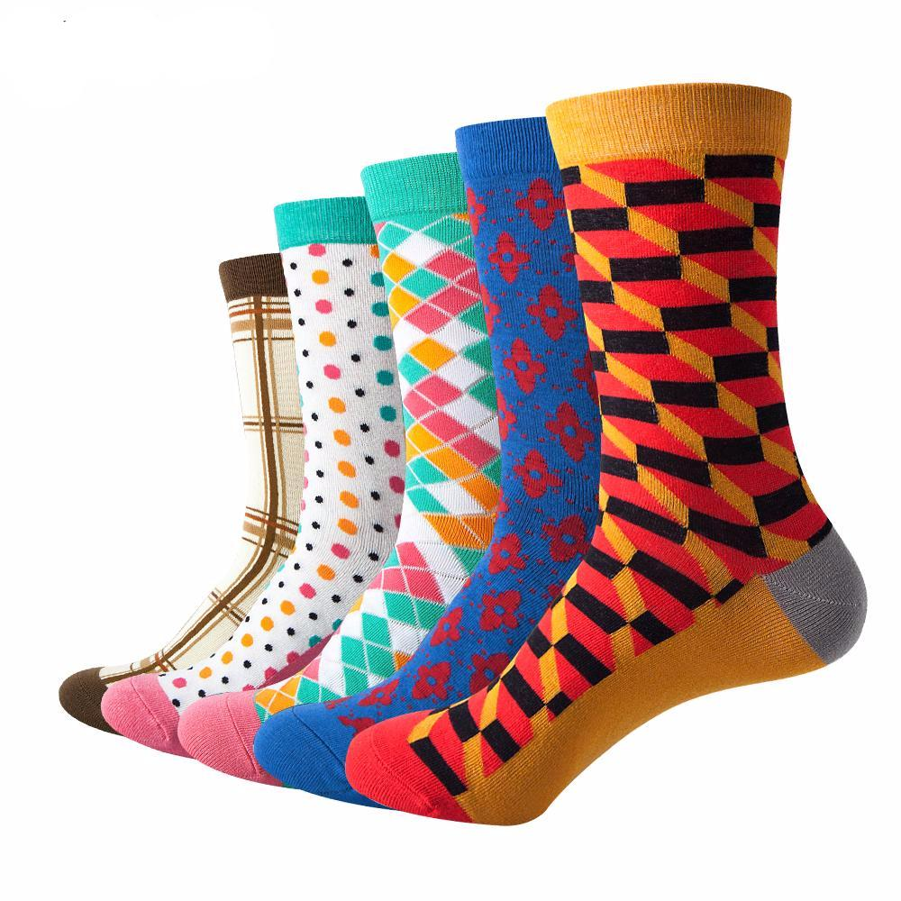 Colorful Combed Cotton socks  (5 pairs)