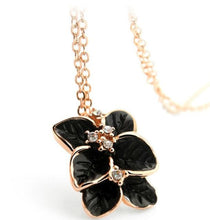 Rose Gold color Plated Austrian Crystal Flower Jewelry Set: Necklace / Earrings / Ring (Various Color Choices!)