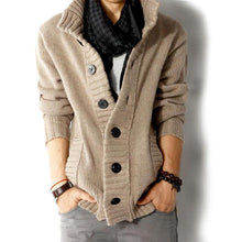 Cardigan sweaters thick collar pullover slim fit