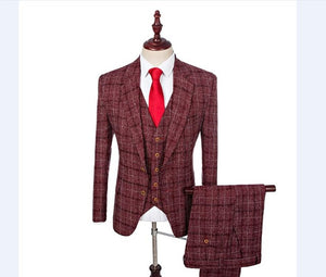 Retro Style, Wool Herringbone 3-Piece Suit (Various color & size choices)