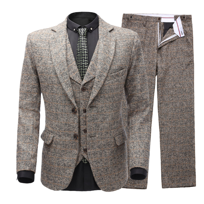 Slim Fit / Two Buttons /Tuxedo Dinner Suit (Suit jacket+pants+vest)