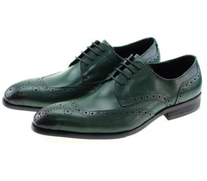 Genuine Leather Brogue Dress Shoes (Various Color Choices)