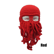 Novelty Beard Beanie Mask or Octopus costume (Various Color Choices)