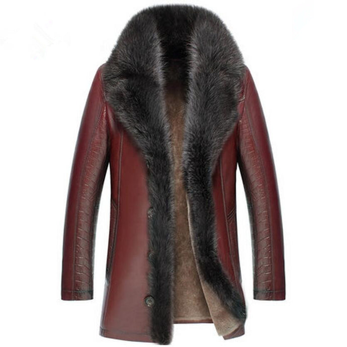 Genuine Sheepskin Leather  Crocodile Print Jacket (Various Colors & Choices Available)