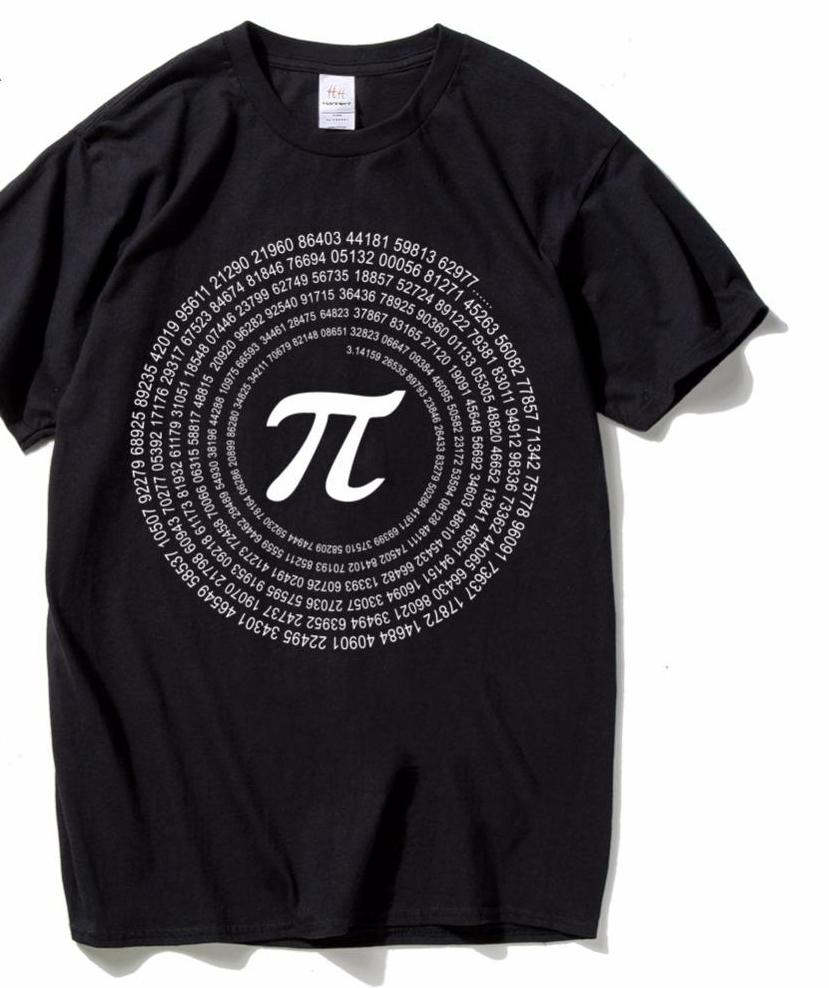 Pi math cotton short sleeve t shirts black and gray color - Black and grey house ...