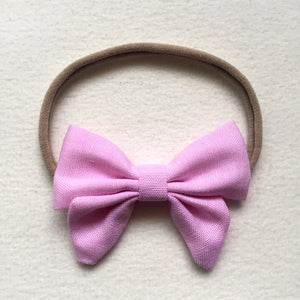 Newborn Baby Bow Stretchy Nylon Headbands (9 colors!)
