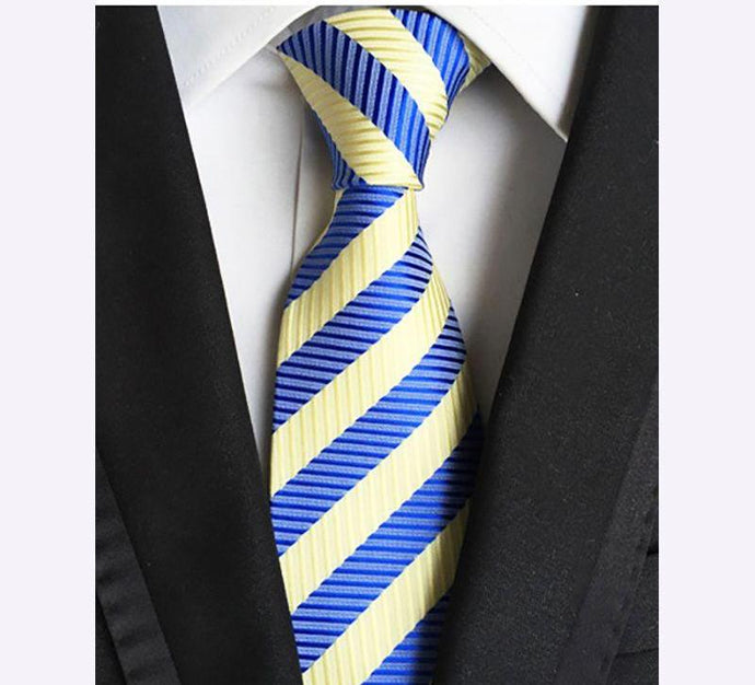 Classic Silk Striped Neck Ties (9 Color Choices)