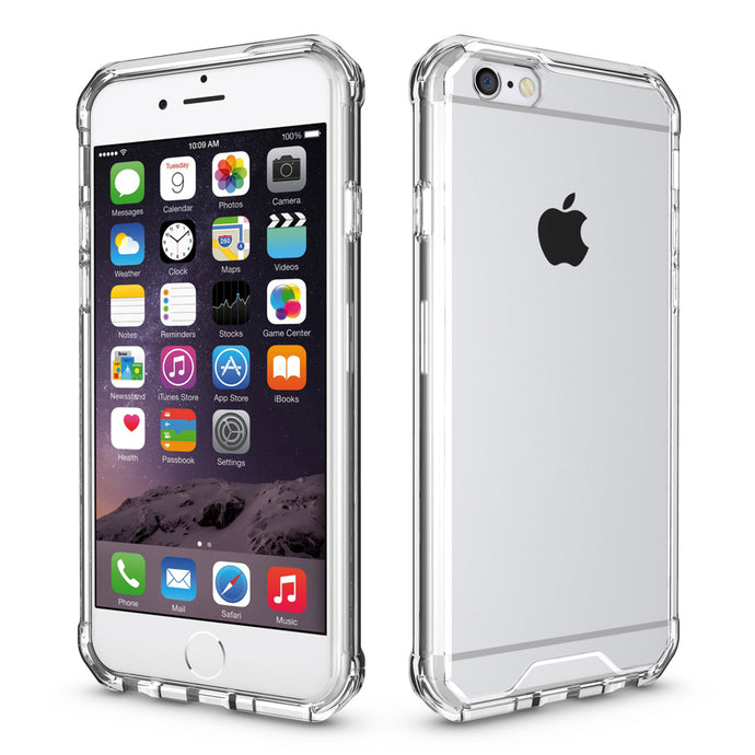 Transparent Shockproof Case For iPhone 6, 6s, 7, 8 Plus (Various Color Choices)
