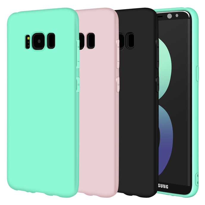 Ultra Thin Silicone Phone Case For Samsung Galaxy A5, A3, J3, S8 Plus, S7 edge, J5, Note 8 (Various Color Choices!)