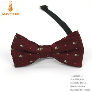 Children's Plaid Polyester Bow Ties w/Various Patterns (Animals, Bike, Car, etc.)
