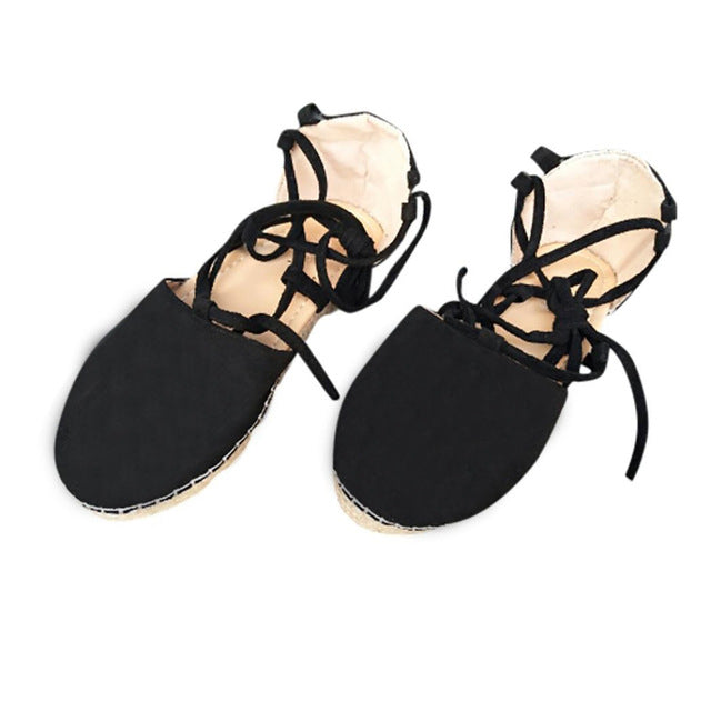 Bohemian Lace Up Flats (Various Color Choices!)
