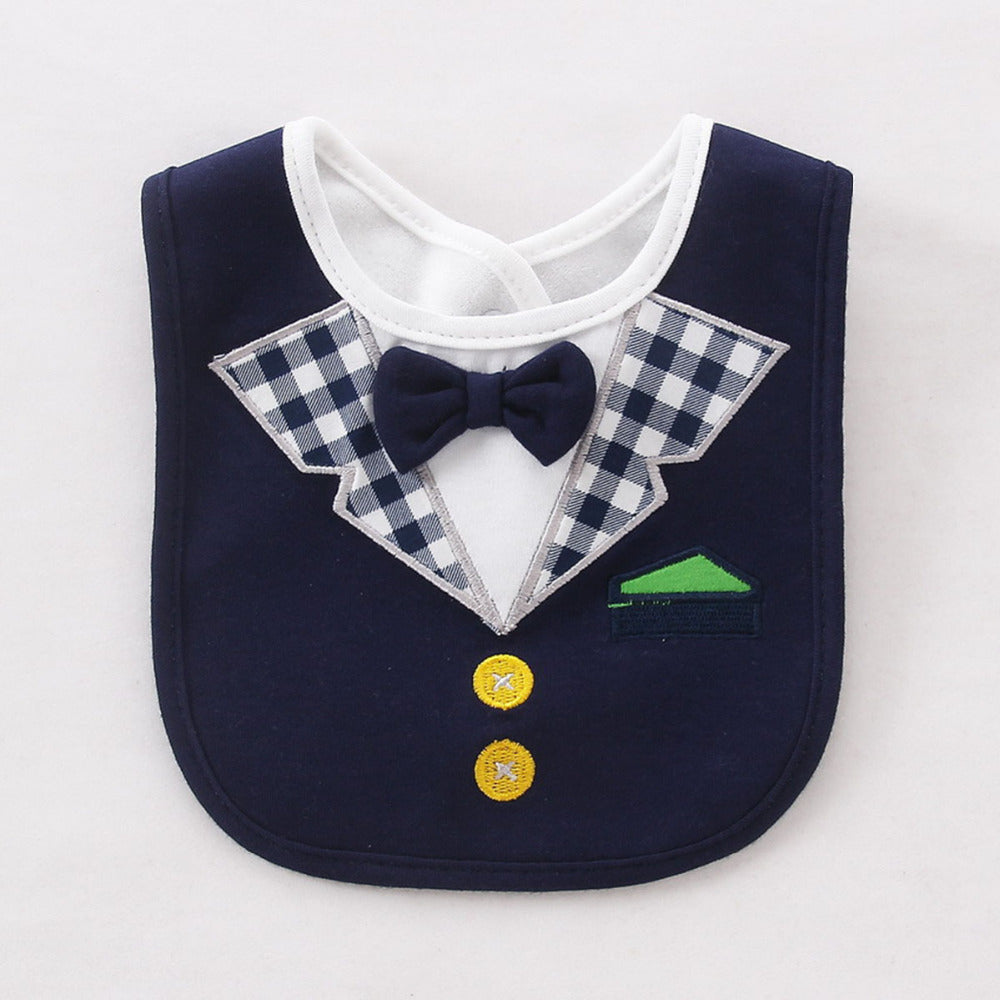 Removable & Waterproof  Bow Tie Tuxedo Baby Bibs (7 Design/Color Choices)