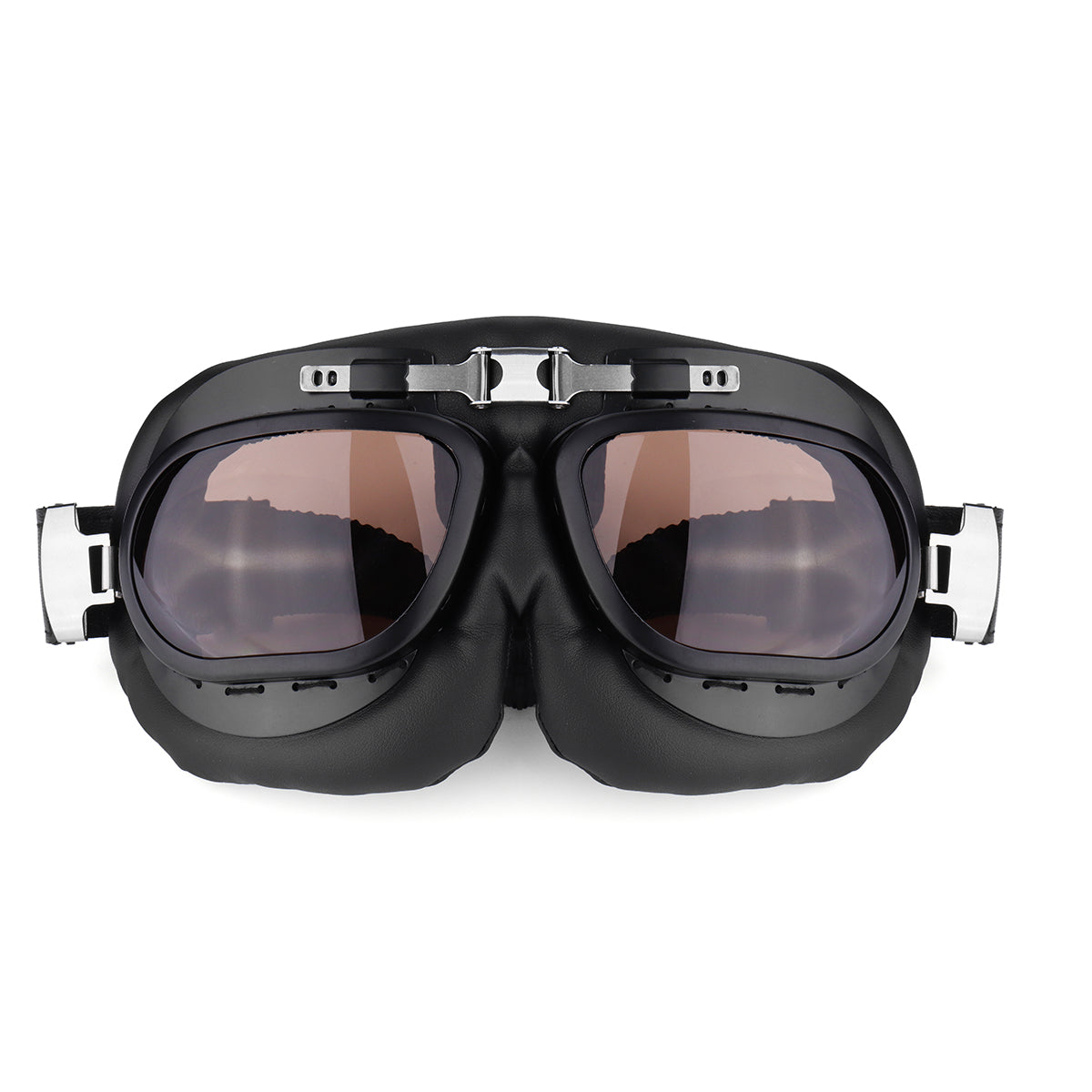 87c6400635 Motorcycle Goggles Glasses Vintage Classic Goggles Retro Pilot Cruiser  Steampunk UV Protecti