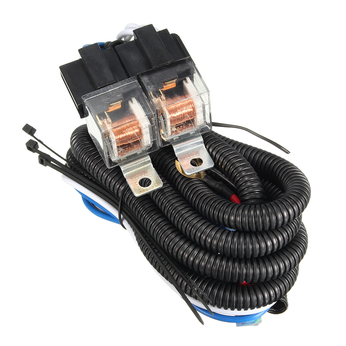 Rings 12v 7inch H4 Headlight 2 Headlamp Relay Wiring Harness Light For Also Connector Diagram Socket Plug