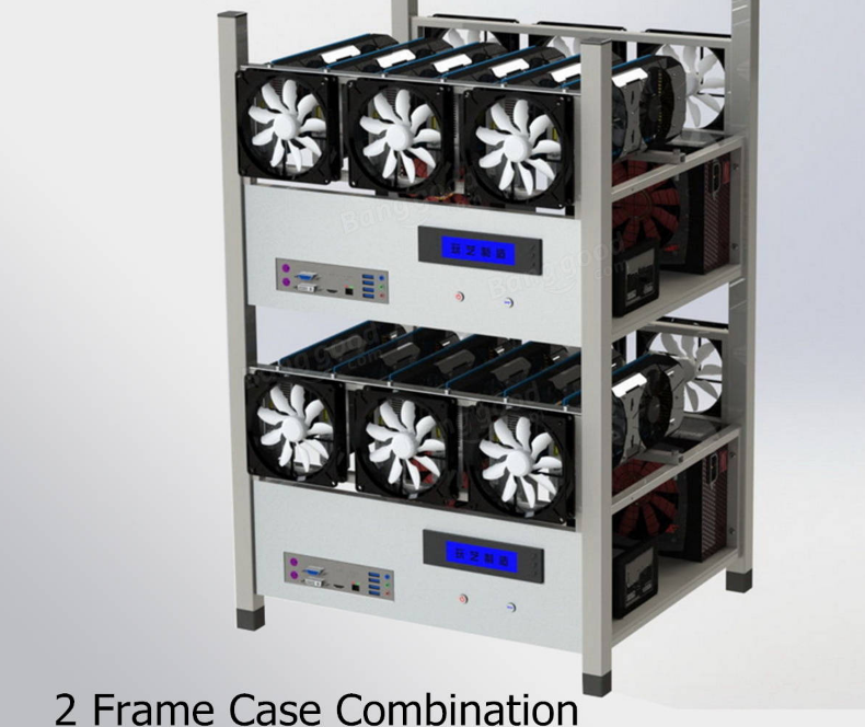 Other Computers & Networking - 6 GPU Mining Case Computer ETH Miner