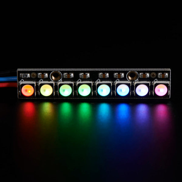 5Pcs NeoPixel Straight Board 8x 5050 RGBW Cool White LED 6000K With  Integrated Drivers Module