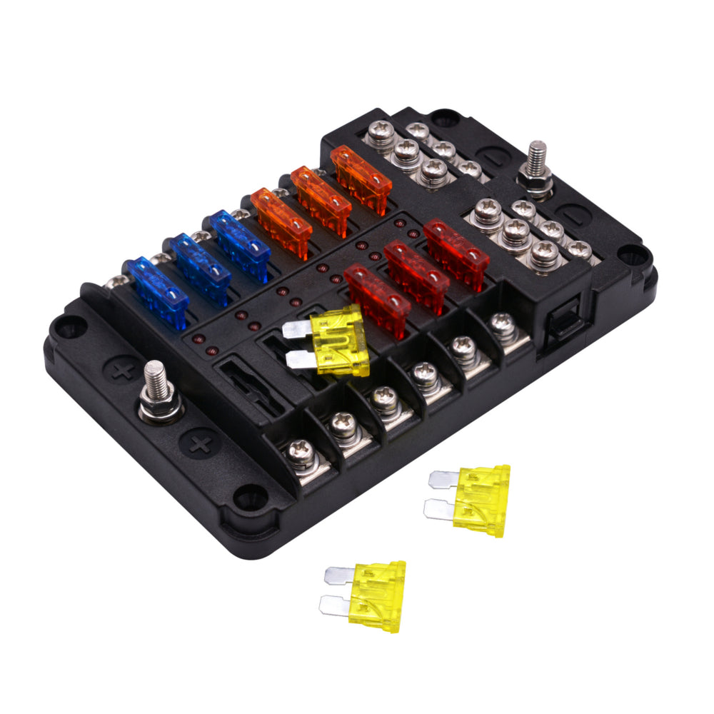 Other Tools Kits 1 In 12 Out Way Car Fuse Box Power Plug Type Seat With Led Indicator