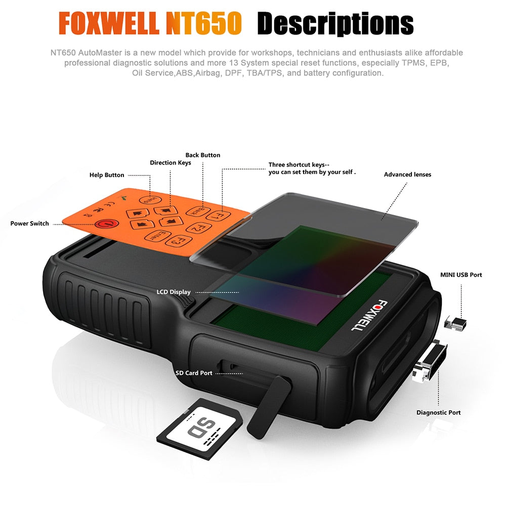 Other Tools & Kits - FOXWELL NT650 OBD2 Diagnostic Tool for VW BMW