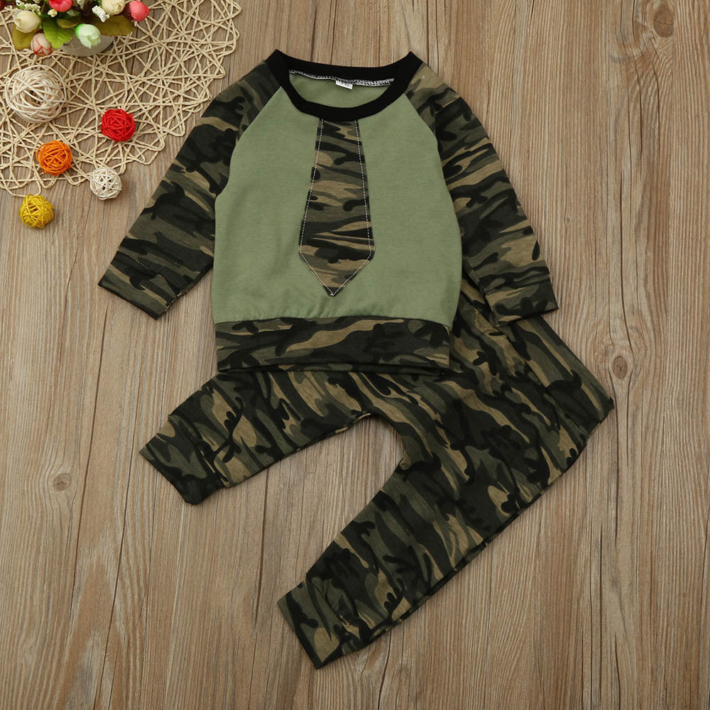 🌿Camouflage top with pants
