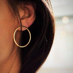 Minimalist Boho Style Round Earrings