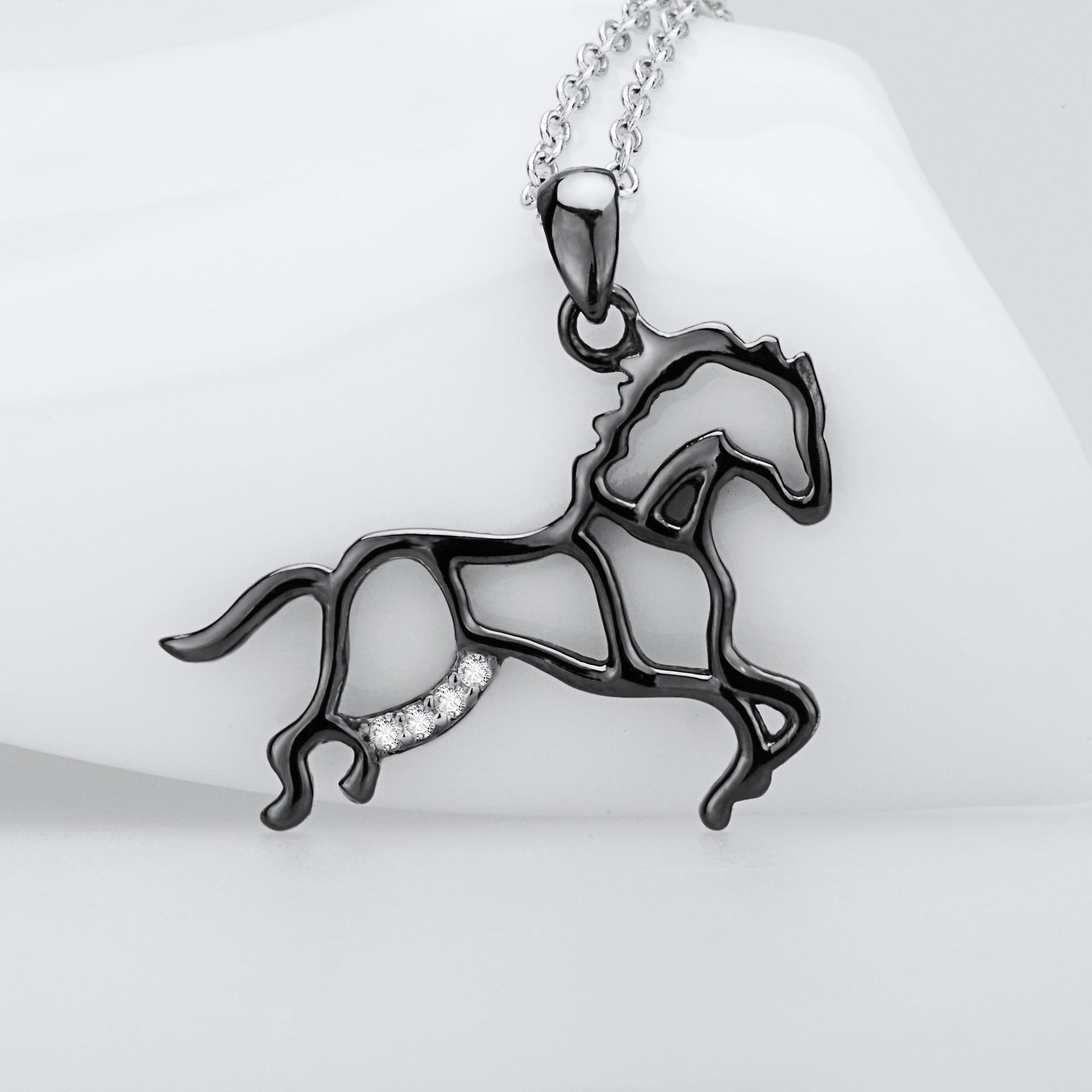 Wild horse - S925 Sterling Silver Necklace
