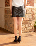 Hipster Leather Skirt