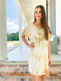Silk Tee Dress - Sunburst
