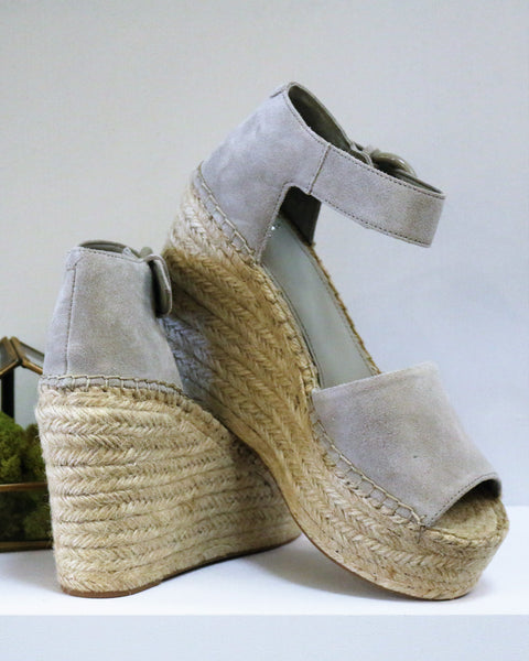 Marc Fisher Alida in Light Grey Suede