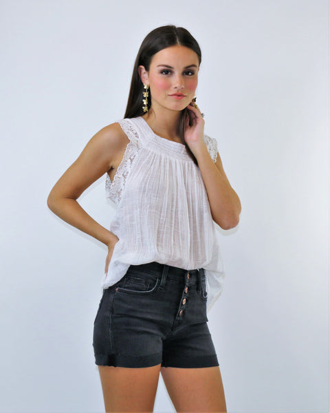 Sanctuary Button Front Denim Short