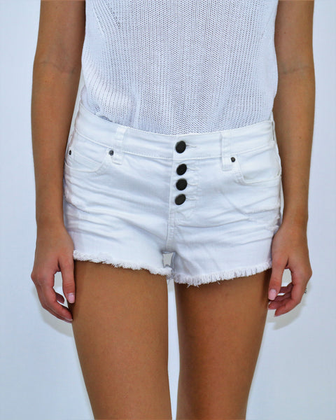 Billabong - Buttoned Up Shorts in white