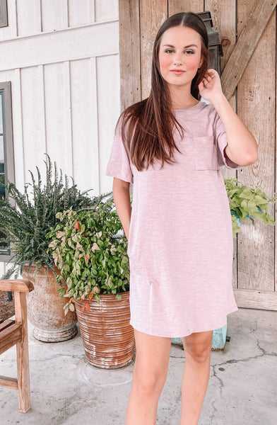 Mauve Tshirt Dress