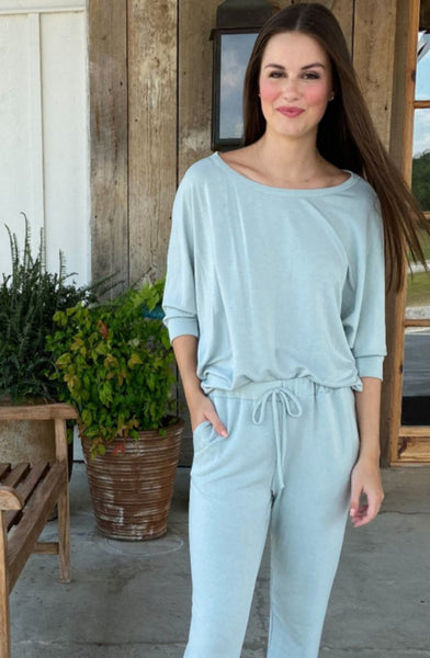 The Butter Slouch Top - Light Blue