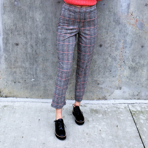 The Runway Crop Pant - Spectrum Plaid