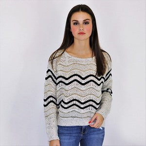 Metallic Waves Sweater