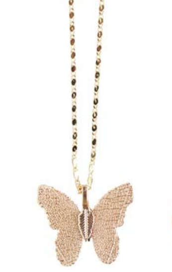 Felicity Necklace - Gold Butterfly