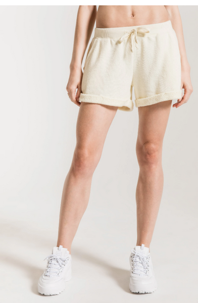 Loose Loop Boyfriend Shorts - Sunset Yellow