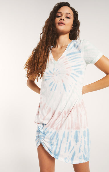 Tie-Dye Side Knot Dress