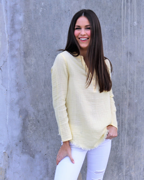 Yellow Woven Cotton Top