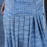 Tweed Pleated Hem Dress