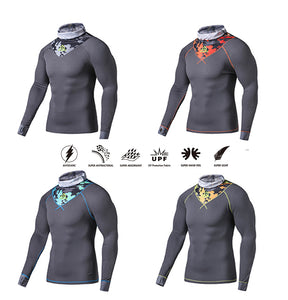 ECODE LONG SLEEVE FACE PROTECT MICRO FABRIC TEE