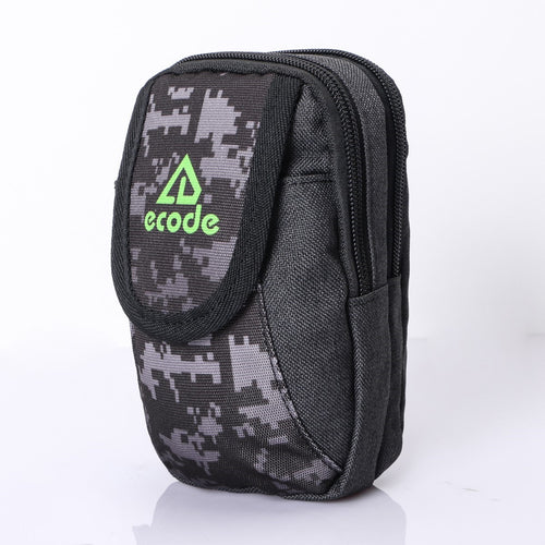 MPO-03(BLACK) 2 Zippered 1 Flap Compartment Pouch