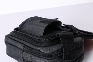 MPO-08(BLACK) 3 Zippered Front Organizer Pouch