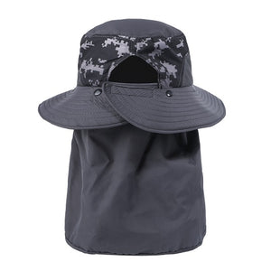 EJH-07 UV50+ Sun Hat (Big Brim/Detachable Full Single Flap)