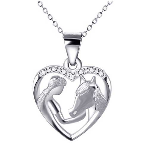 collier cheval fille argent 925