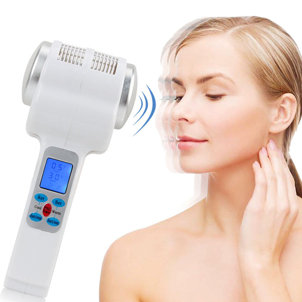 Ultrasonic Cryotherapy Hot Cold Hammer Lymphatic Face Lifting Massager